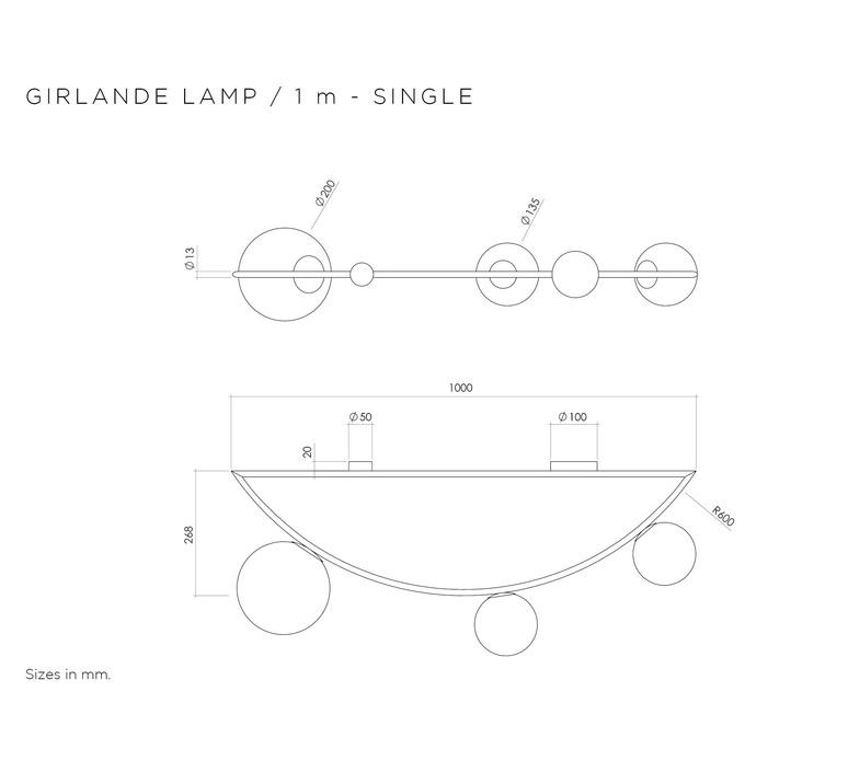 Girlande single gwendolyn et guillane kerschbaumer plafonnier ceilling light  atelier areti girlande ceilingsingle brass  design signed 44106 product
