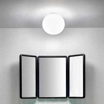 Plafonnier glo ball ceiling wall zero blanc o19cm h16cm flos normal