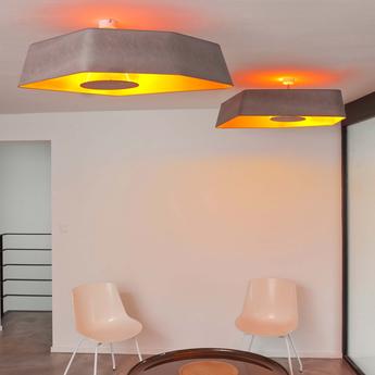 Plafonnier grand nenuphar led turquoise orange l118cm designheure normal