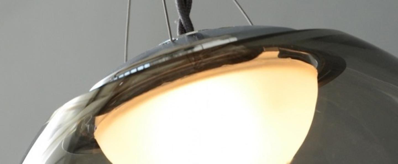 Plafonnier gris transparent l20cm h25cm atelier areti normal
