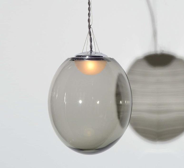 Gris gwendolyn et guillane kerschbaumer plafonnier ceilling light  atelier areti gris pendant small  design signed 44131 product