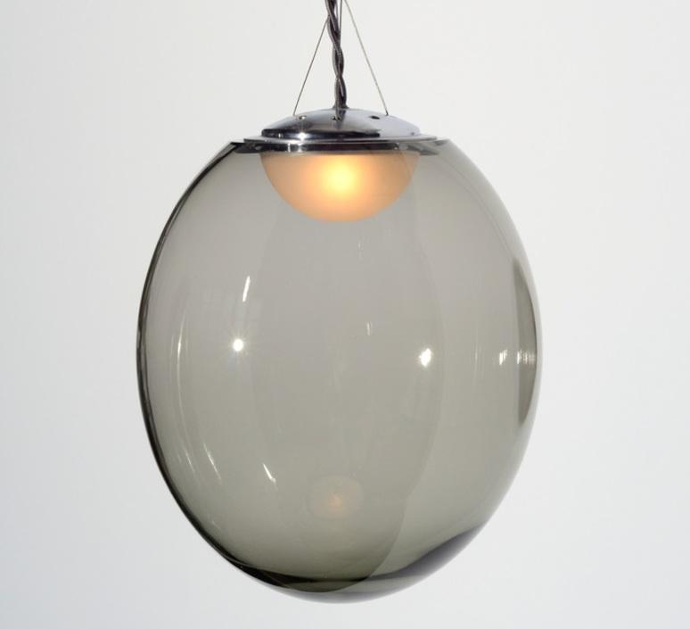 Gris gwendolyn et guillane kerschbaumer plafonnier ceilling light  atelier areti gris pendant small  design signed 44132 product