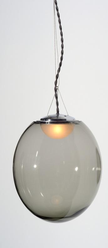Plafonnier gris transparent l30cm h35cm atelier areti normal
