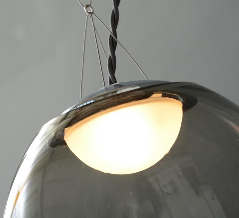 Gris gwendolyn et guillane kerschbaumer plafonnier ceilling light  atelier areti gris pendant large  design signed 44136 product