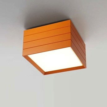 Plafonnier groupage 32 orange led dimmable h20cm l32cm artemide normal