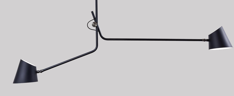 Plafonnier hartau double noir o133cm h112cm d armes normal