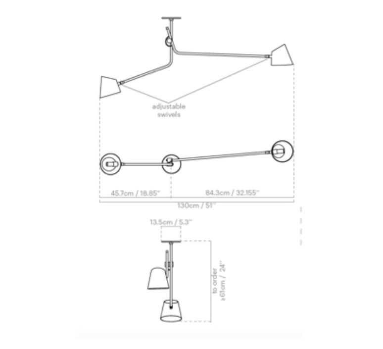 Hartau double alexandre joncas gildas le bars plafonnier ceilling light  d armes hadoblox2  design signed nedgis 69617 product