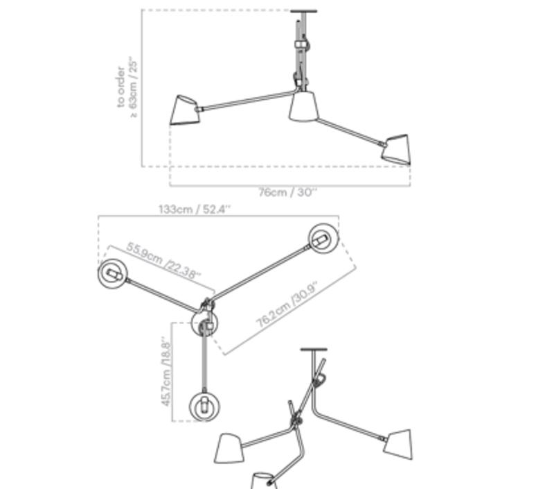 Hartau triple alexandre joncas gildas le bars plafonnier ceilling light  d armes hatrblox2  design signed nedgis 69626 product
