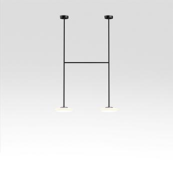 Plafonnier ihana opale et noir led 2700k 2x1019lm l99cm h150cm marset normal