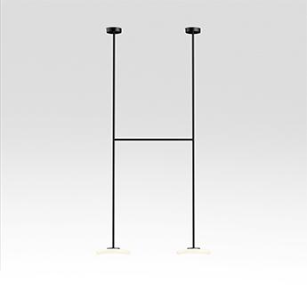 Plafonnier ihana opale et noir led 2700k 2x1019lm l99cm h200cm marset normal
