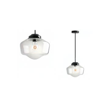 Plafonnier lampe en verre noir o11cm h55cm zangra normal