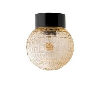 Plafonnier lampe etanche en porcelaine 032 noir ip54o15cm h15cm zangra normal