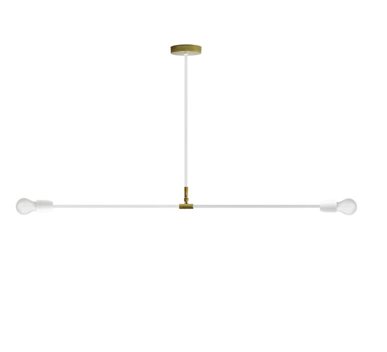 Ceilling Light Lampe Porcelaine Et Metal White O110cm H58 5cm
