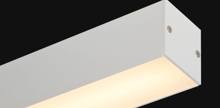 Plafonnier led liner65 ready to go blanc led l114cm h7 2cm doxis normal