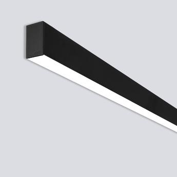 Plafonnier line a noir led 3000k 4000lm l142cm onok normal