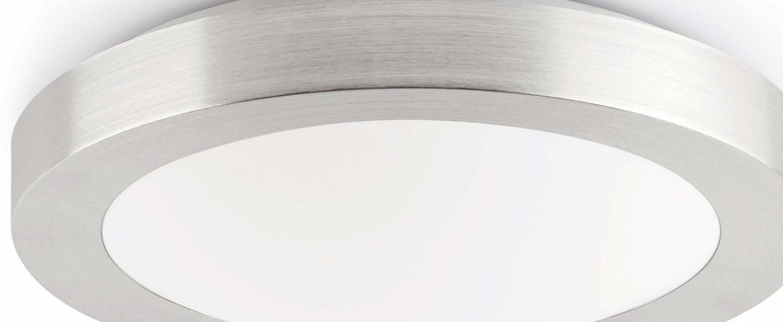 Plafonnier logos 1 gris o27cm h9cm faro normal