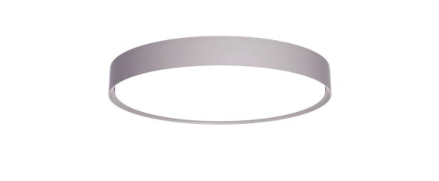 Plafonnier lp slim round apparent aluminium led 3000k 1142lm o24 8cm h80cm louis poulsen normal