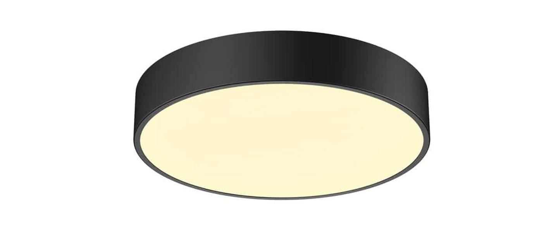 Plafonnier medo 40 ambient noir led 3000 4000k 2750 2900lm o38cm h9 5cm slv normal