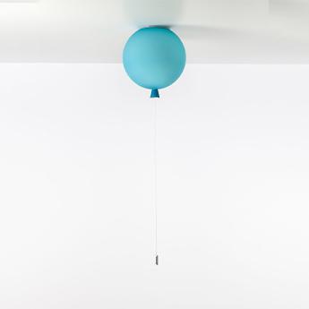 Plafonnier memory 400 verre turquoise mat ficelle blanche o40cm h41 5cm brokis normal