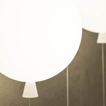 Plafonnier memory ballon blanc brillant o40cm brokis normal