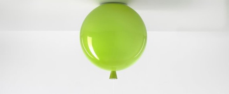 Plafonnier memory ballon vert brillant o25cm brokis normal
