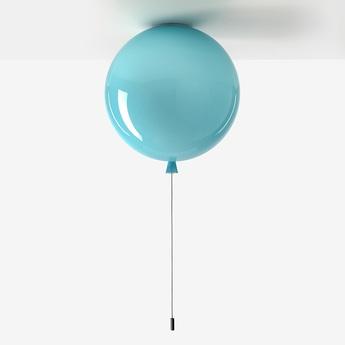 Plafonnier memory bleu turquoise brillant o25cm brokis normal
