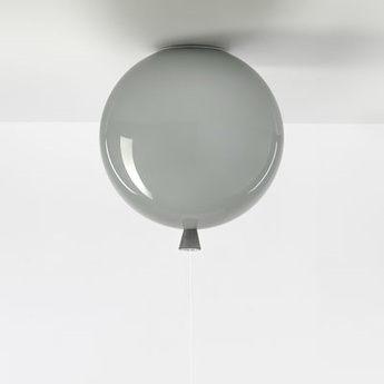 Plafonnier memory gris brillant o30cm brokis normal