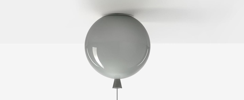 Plafonnier memory gris h42 35cm o40cm brokis normal