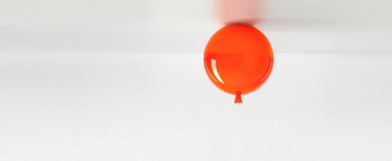 Plafonnier memory orange h26 35cm brokis normal
