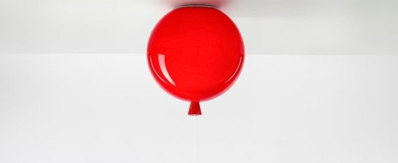 Plafonnier memory rouge brillant h42 35cm o40cm brokis normal