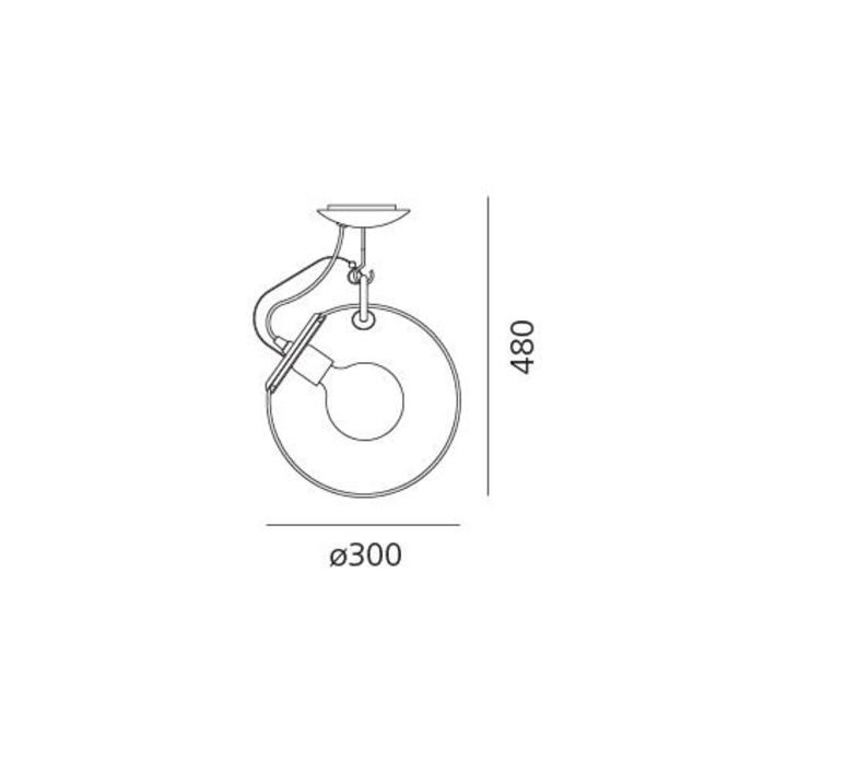 Miconos ernesto gismondi plafonnier ceilling light  artemide a022800  design signed 60926 product