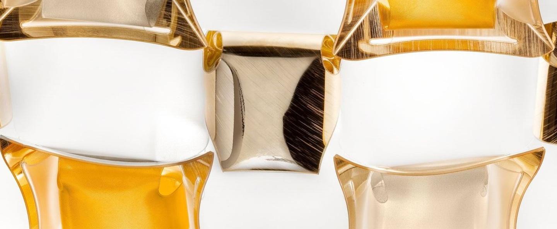 Plafonnier mida ambre o50cm p16cm slamp normal