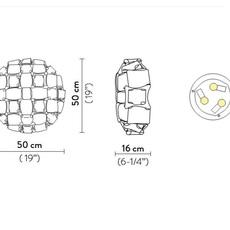 Mida adriano rachele plafonnier ceilling light  slamp mid78plf0000gd000  design signed nedgis 66285 thumb