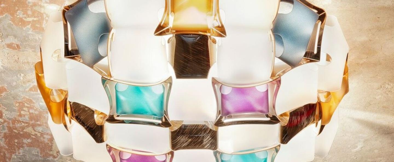 Plafonnier mida multicolore o50cm p16cm slamp normal