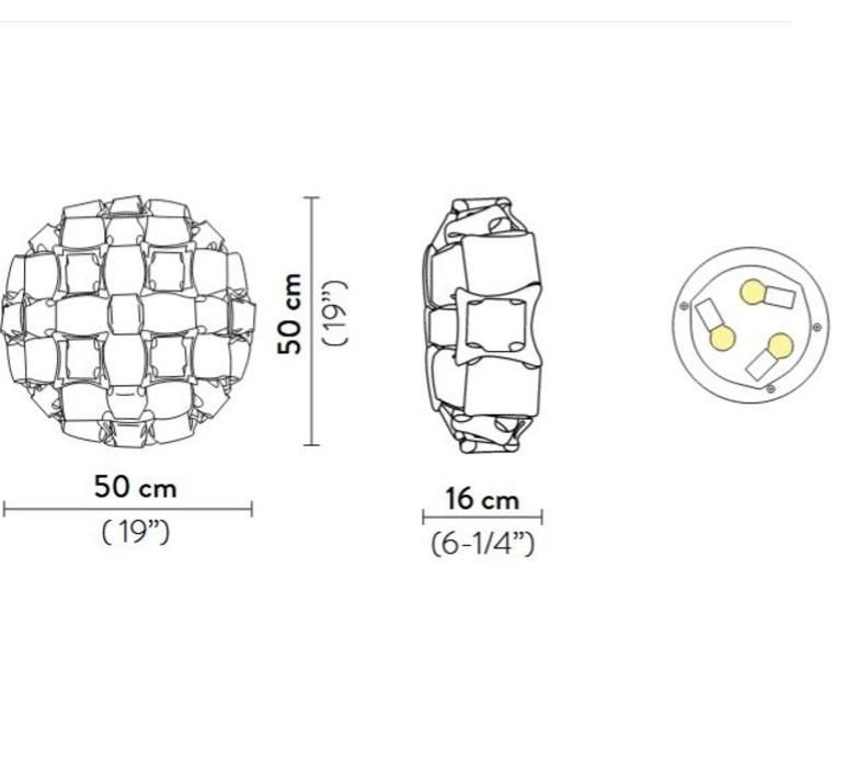 Mida adriano rachele plafonnier ceilling light  slamp mid78plf0000m 000  design signed nedgis 66284 product