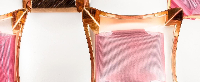 Plafonnier mida rose o50cm p16cm slamp normal