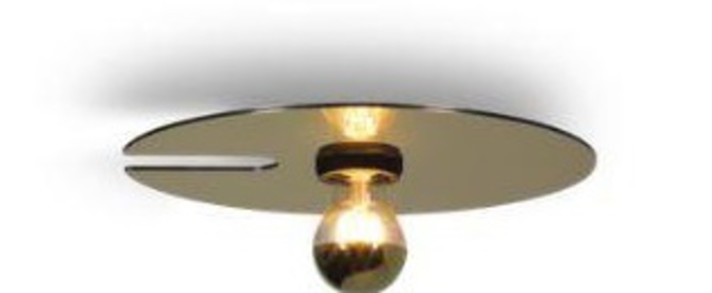 Plafonnier mirro ceiling 1 0 or o30cm h14 5cm wever ducre normal