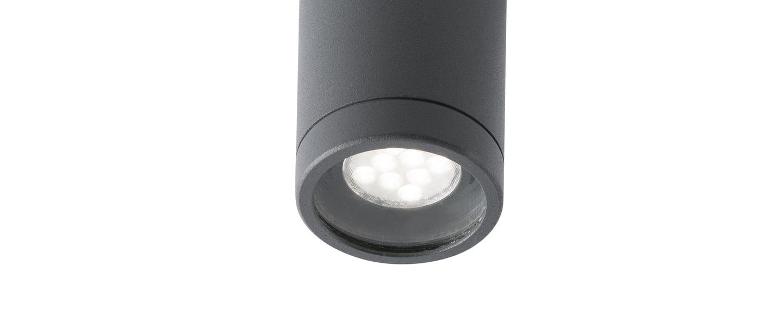 Plafonnier olot gris o6cm h10 5cm faro normal