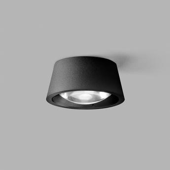 Plafonnier optic out 1 noir et blanc ip54 led 2700k 837lm o13cm h5cm light point normal