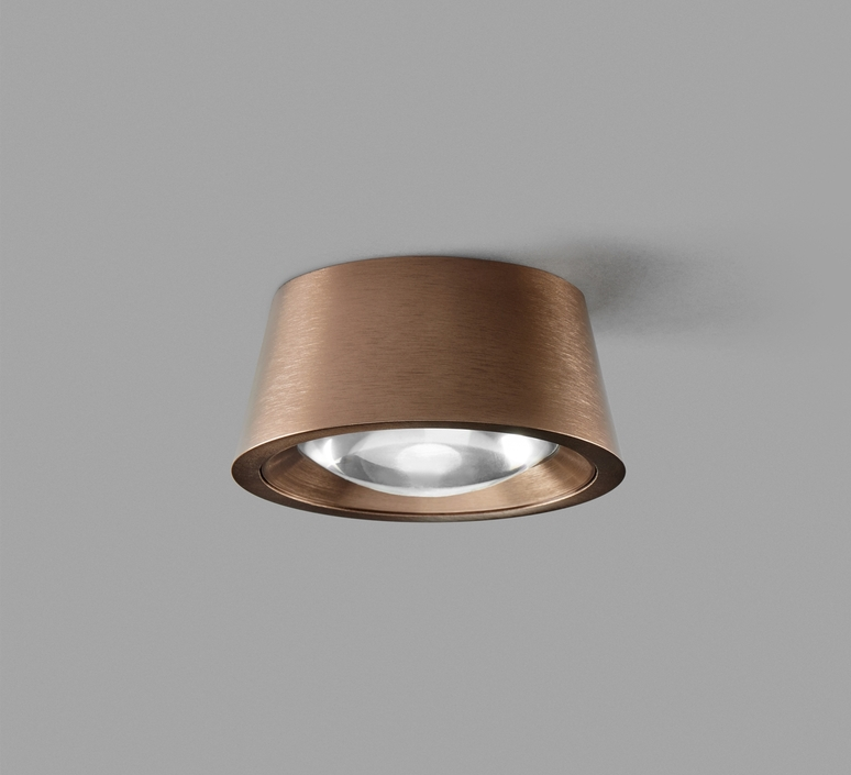 Ceiling Light Optic Out Rose Gold Ip54 Led 2700k 502lm O10cm H4 5cm Light Point Nedgis Lighting