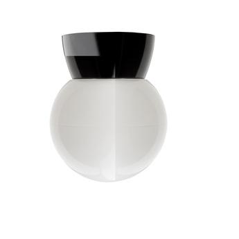 Plafonnier ou applique bakelite noir plastique opale o12 h4cm glass 006 o14 5cm h13cm zangra normal