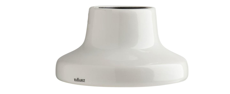 Plafonnier ou applique porcelaine blanc en saillie o10 h5 5cm zangra normal