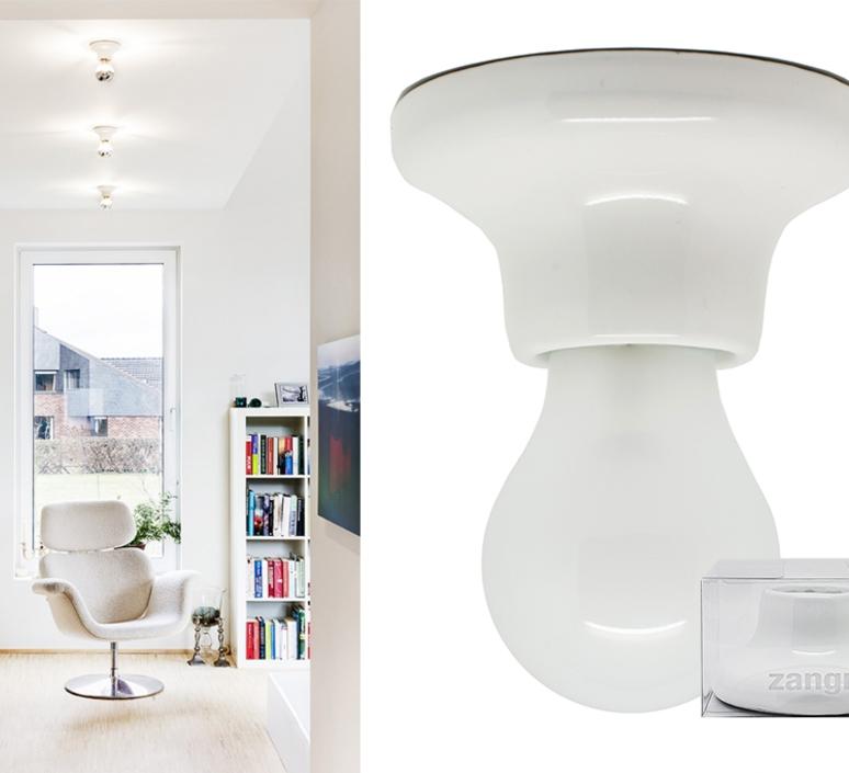 Plafonnier ou applique porcelaine blanc en saillie o10 h5 5cm zangra 33075 product