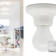 Plafonnier ou applique porcelaine blanc en saillie o10 h5 5cm zangra 33075 thumb