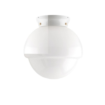 Plafonnier ou applique pure porcelaine glass l010 blanc o24cm h23cm zangra normal