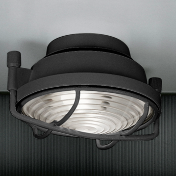 Plafonnier out anthracite led o26cm h11cm martinelli luce normal