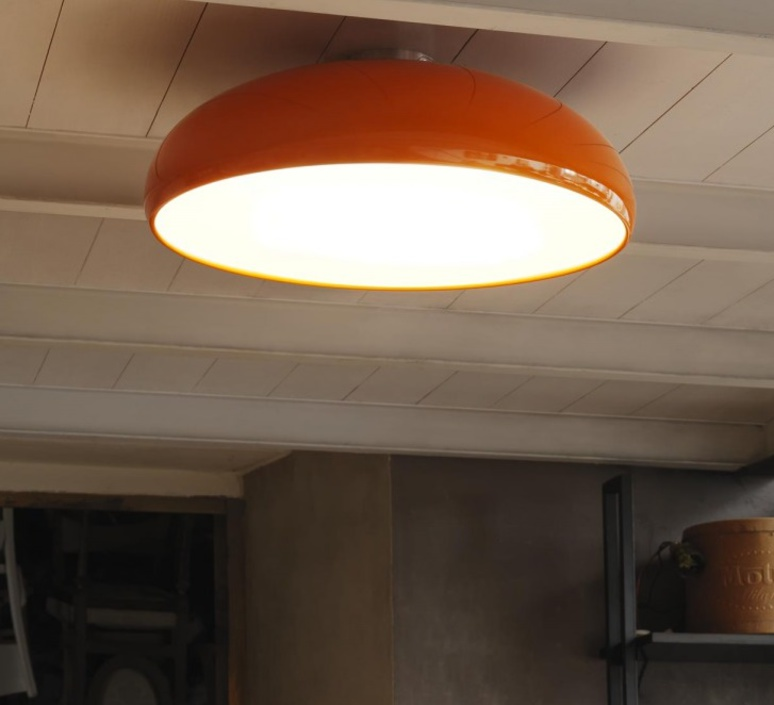 plafonnier pangen orange 60cm fontana arte luminaires nedgis. Black Bedroom Furniture Sets. Home Design Ideas
