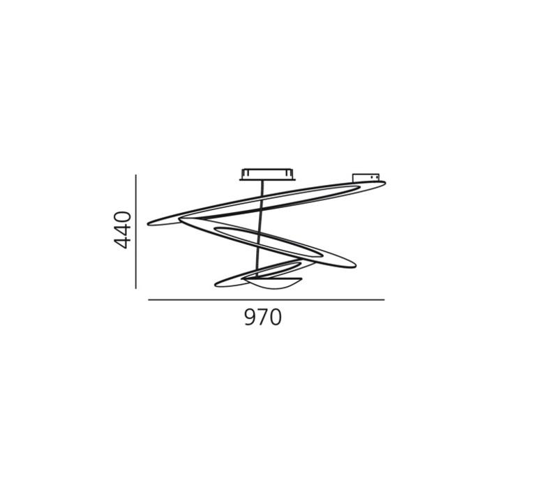 Pirce giuseppe maurizio scutella  plafonnier ceilling light  artemide 1253w10a  design signed 35310 product