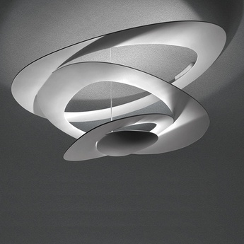 Plafonnier pirce mini blanc dimmable l69cm h36cm artemide normal