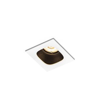 Plafonnier pirro 1 0 blanc noir led 2700k 380lm o5 6cm h4 3cm wever ducre normal
